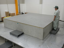 Precision measurement of large work pieces